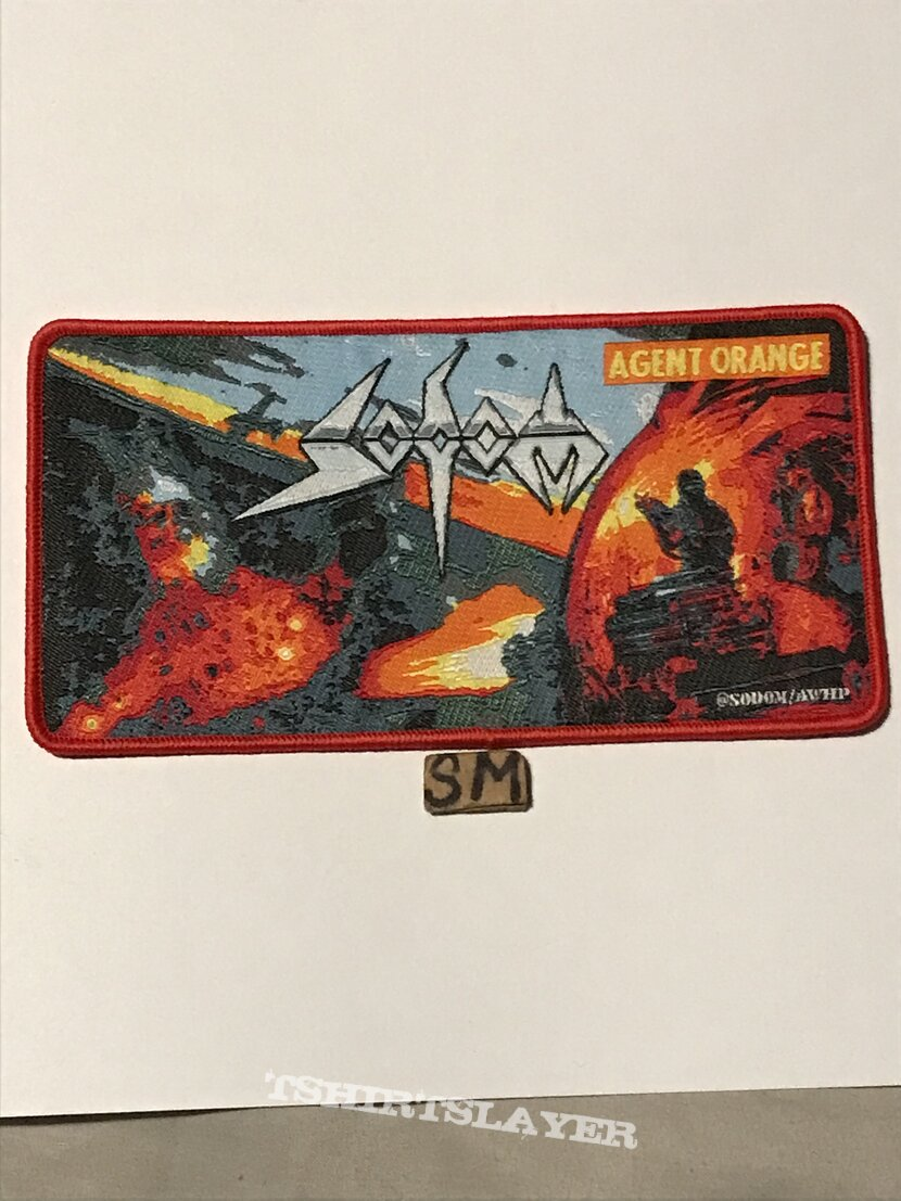 Sodom Agent Orange patch red border