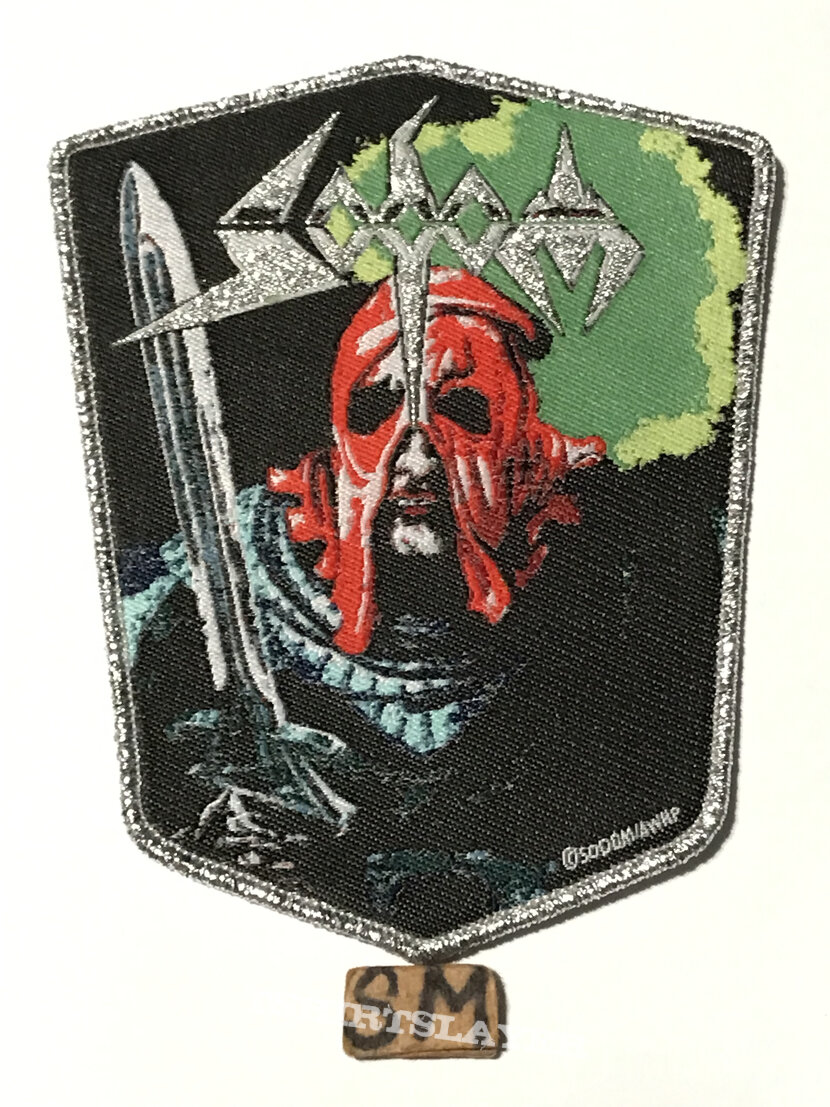 Sodom In The Sign Of Evil patch silver glitter border