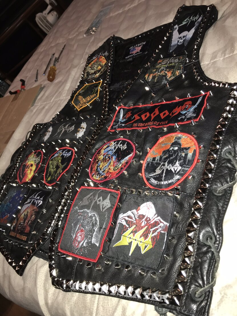 Sodom leather tribute vest