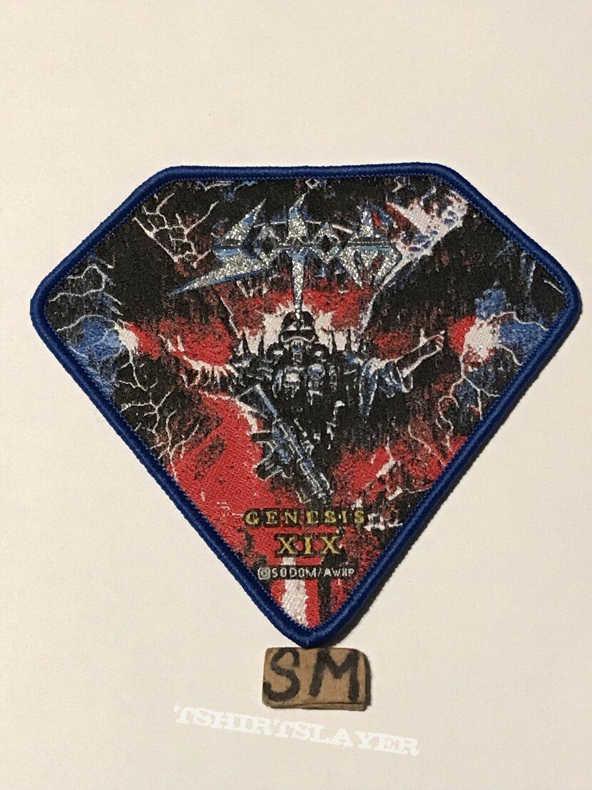 Sodom Genesis XIX patch blue border