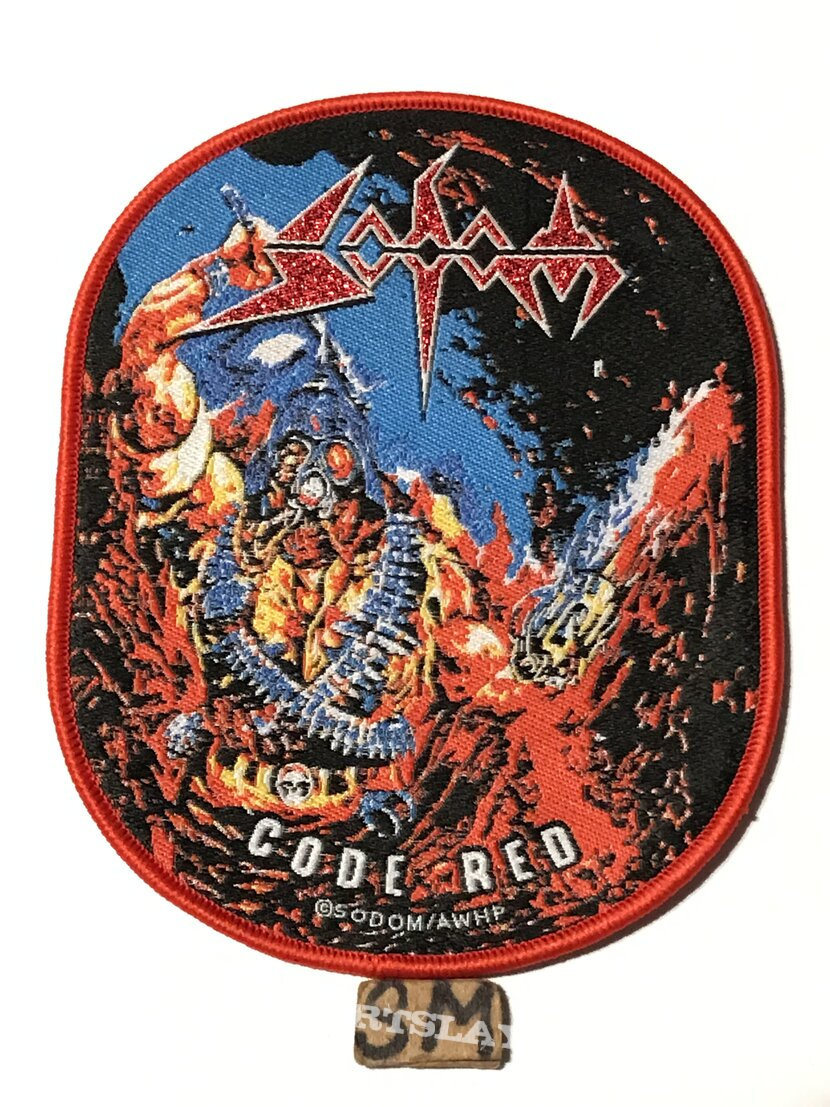 Sodom Code Red patch red border