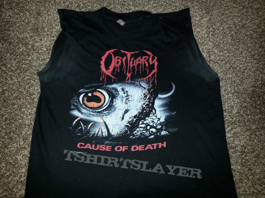 Obituary, Cause Of Death, European Tour 1990 - Sleeveless Shirt