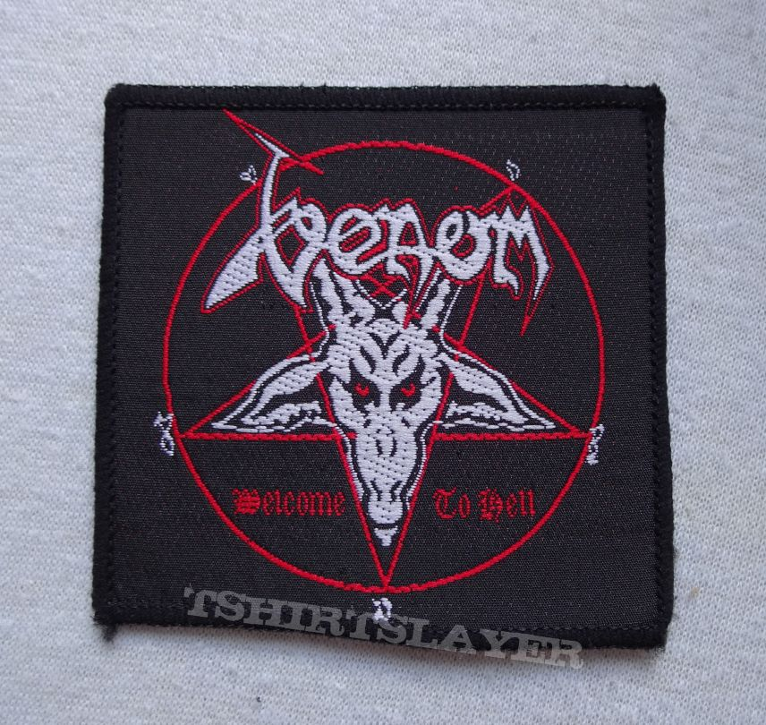47901113022e Venom Welcome to Hell vintage patch black border | TShirtSlayer ...