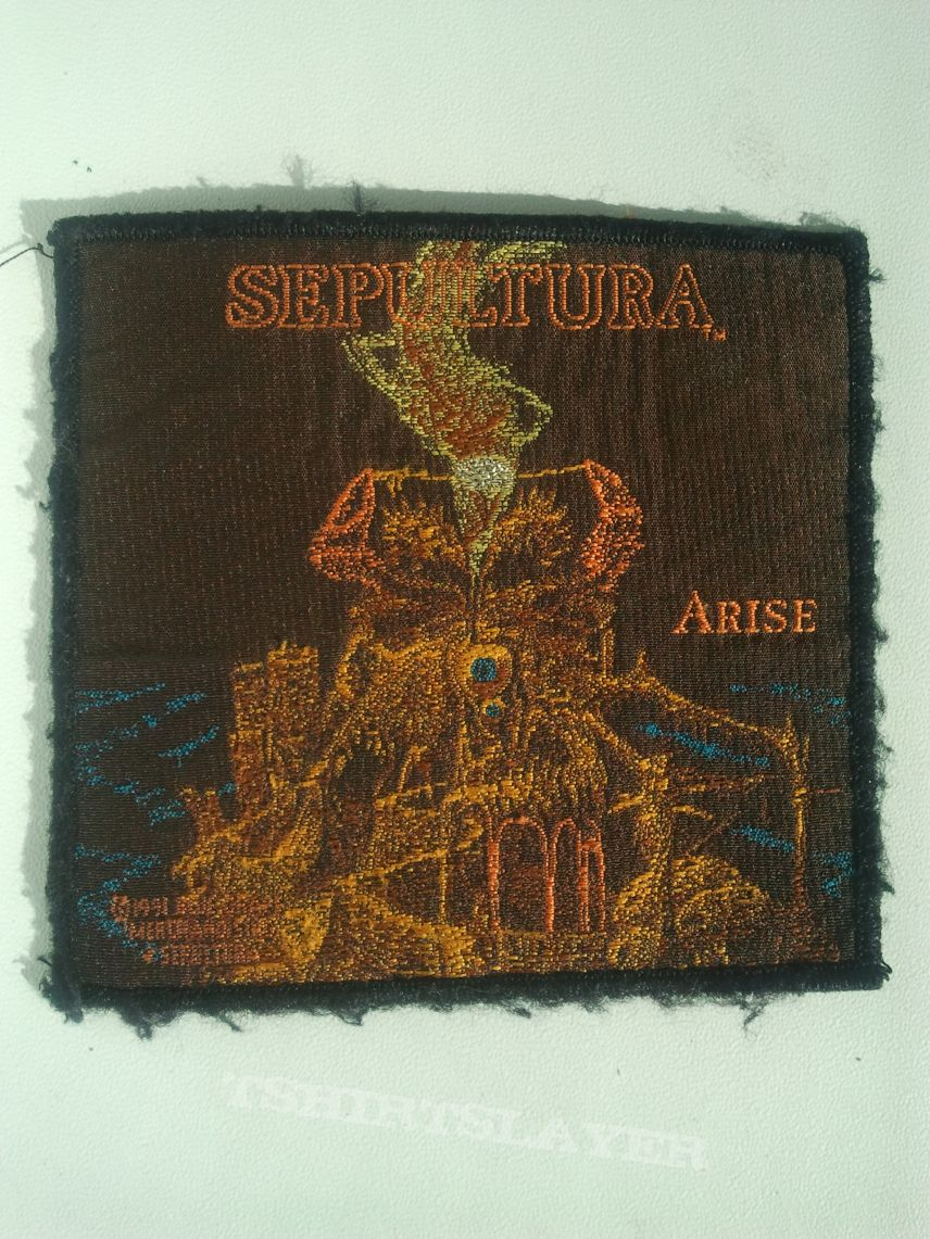 "Sepultura ""Arise"" woven patch"