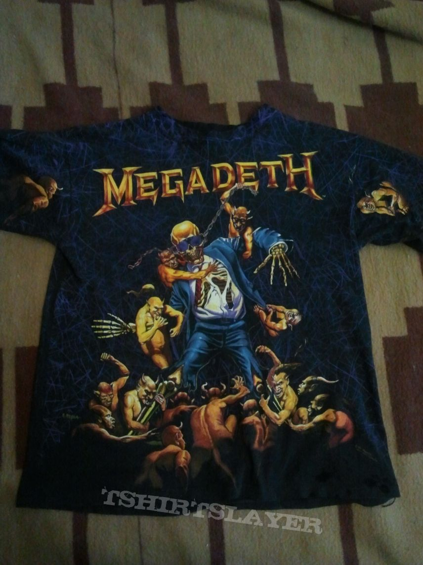 f847877d6 Megadeth vintage 1991 all-over t-shirt | TShirtSlayer TShirt and ...