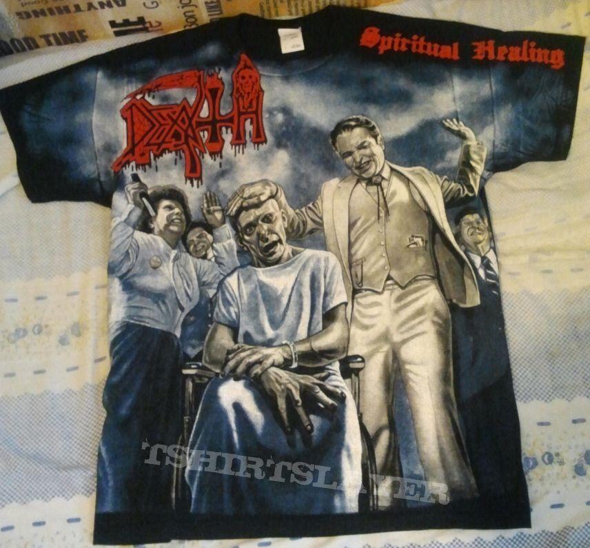 """Death """"Spiritual Healing"""" all-over t-shirt"""