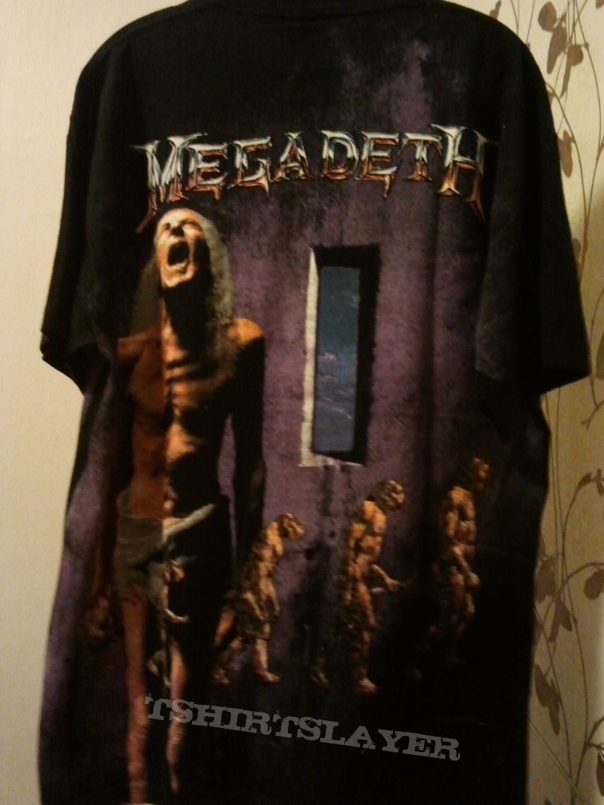 """Megadeth """"Countdown To Extinction"""" all-over vintage t-shirt"""