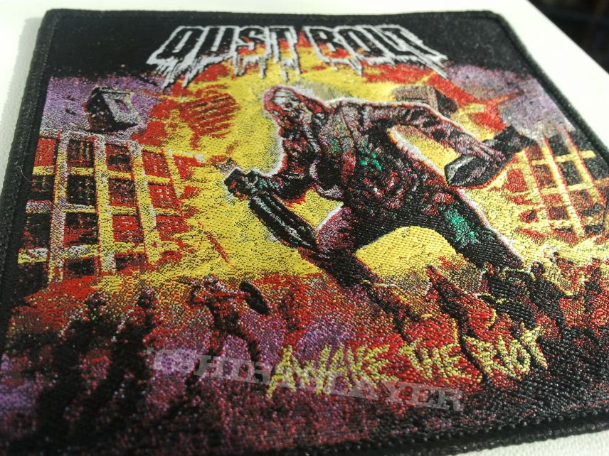 """Dust Bolt """"Awake The Riot"""" woven patch"""
