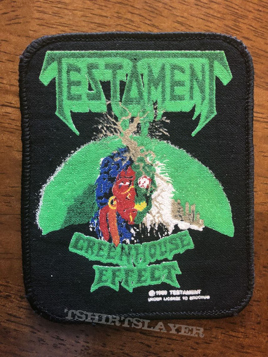testament - patch - greenhouse effect