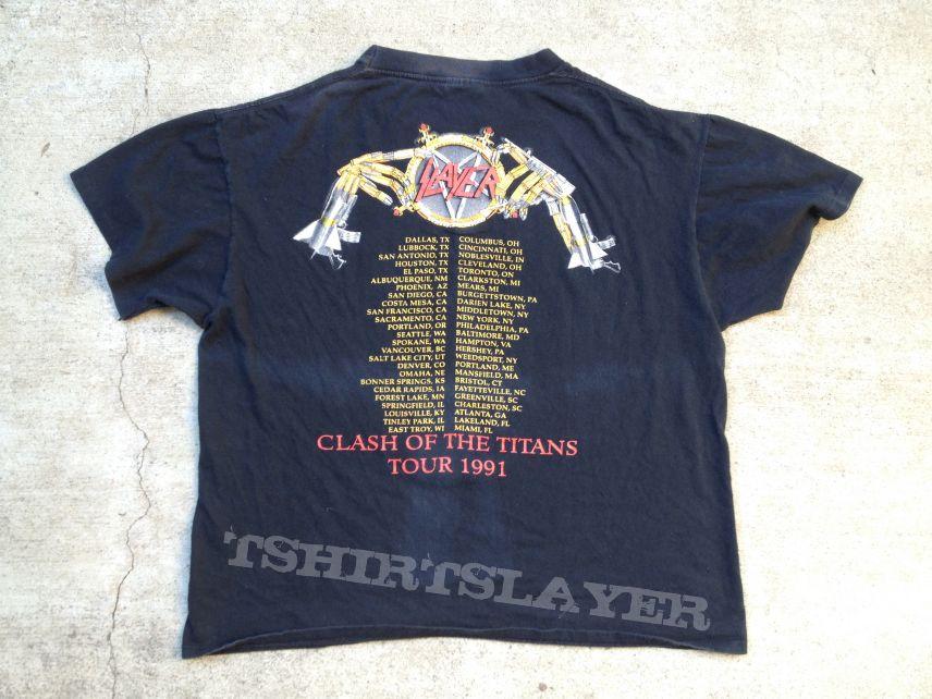 1991 Clash Titans Tour Shirt | TShirtSlayer TShirt and