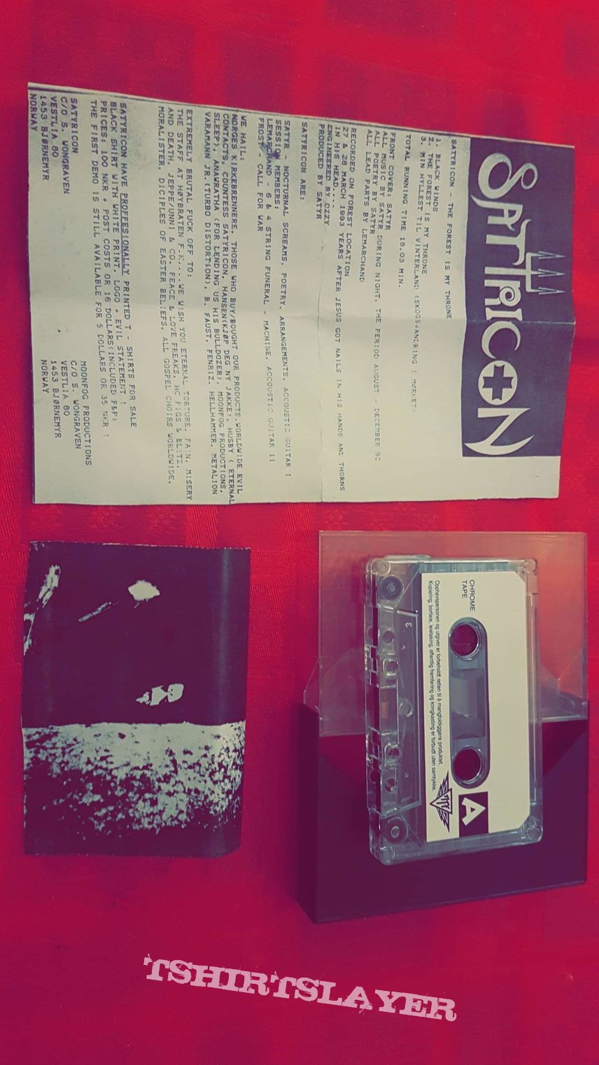Satyricon  original  demo the forest is my throne  mega rare