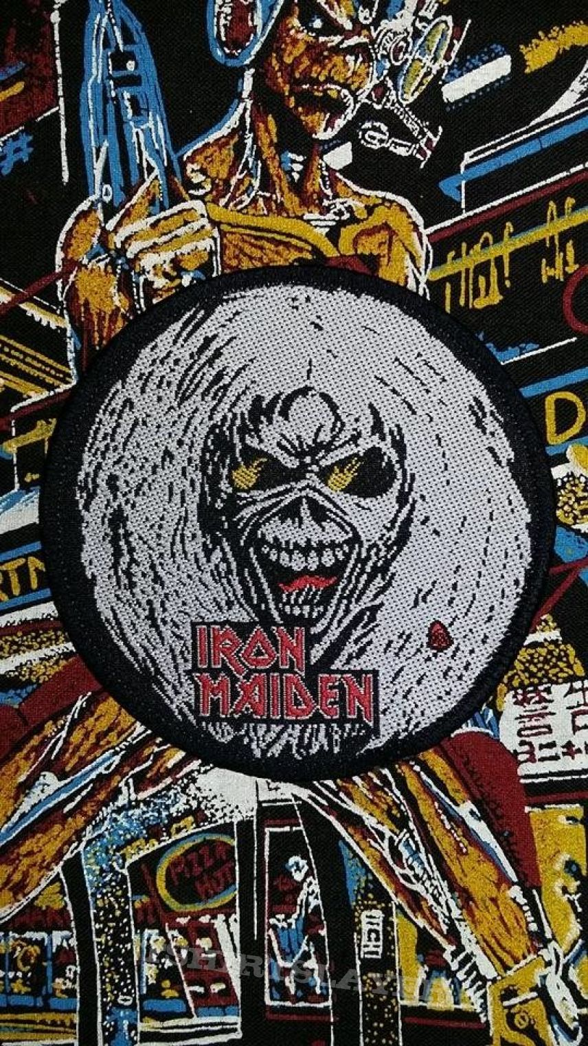 iron maiden the number of the beast eddie patch tshirtslayer