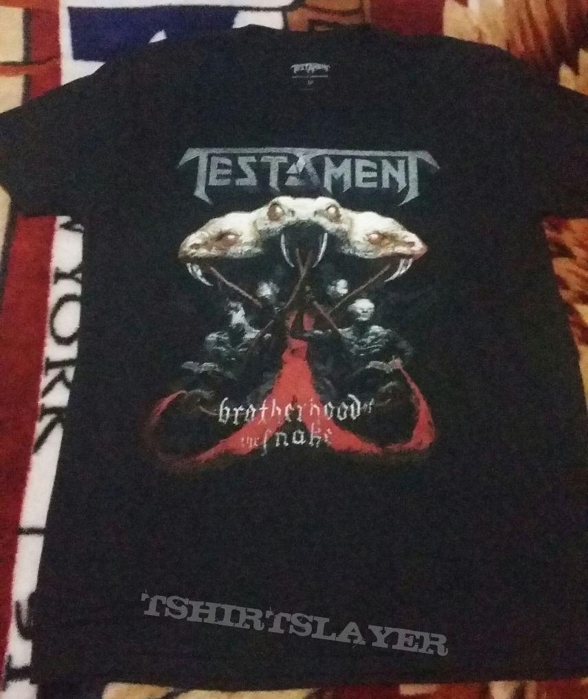 Testament-Brotherhood Of The Snake Latin American Tour 2017 Shirt