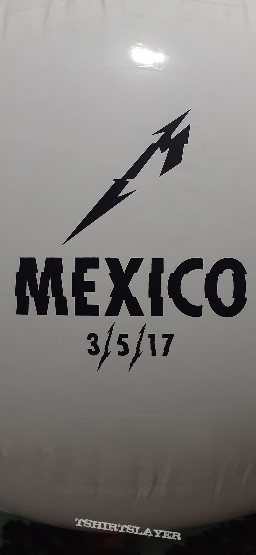 Metallica - March 3rd 2017 Mexico City Beach Ball + Ticket