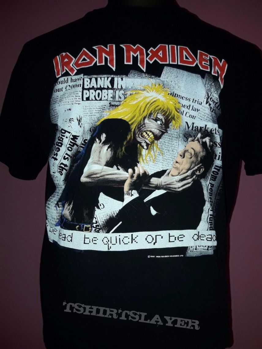 Iron Maiden be quick or be dead vintage t-shirt 1992