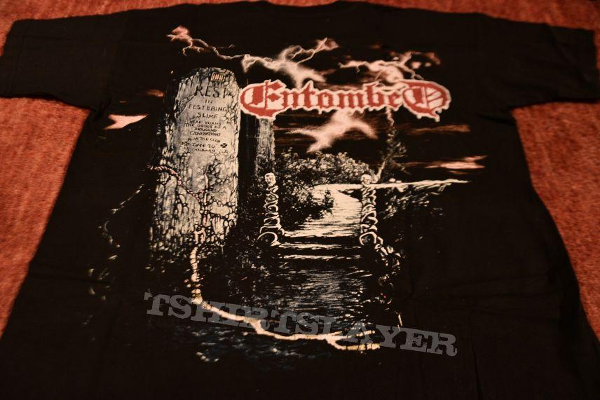 Entombed clandestine vintage t-shirt 90's empire merchandising