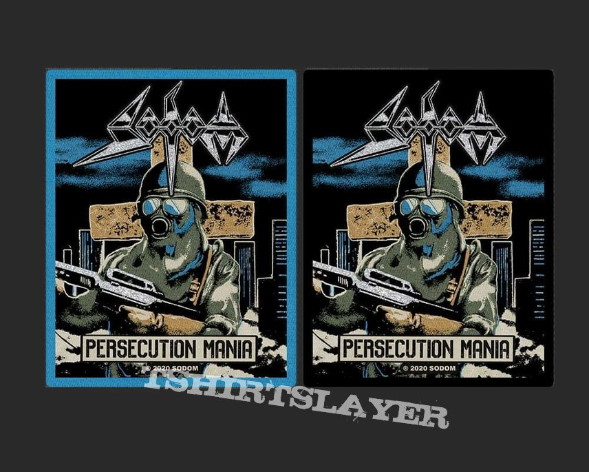 Sodom Persecution Mania Official Woven Patch
