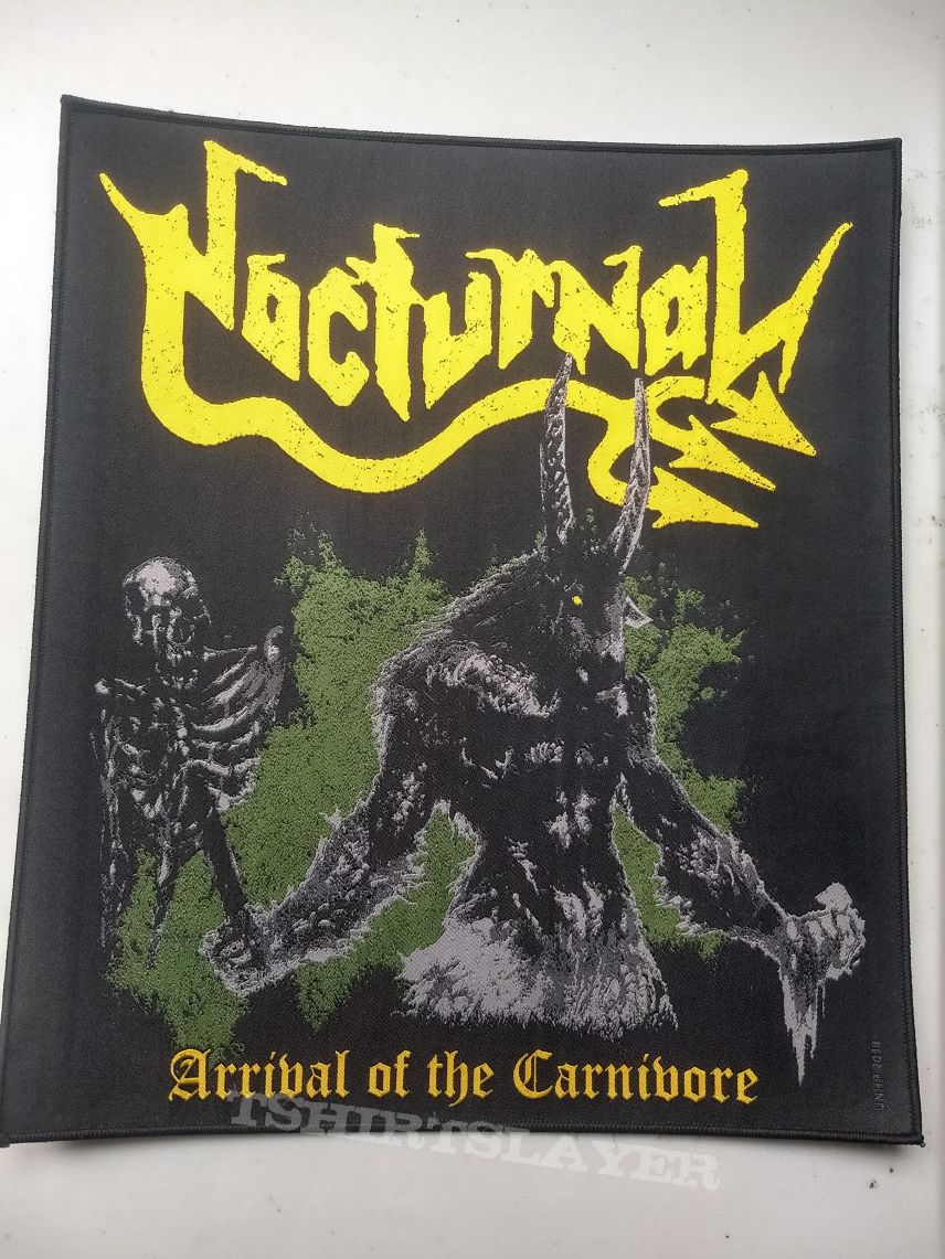 Nocturnal Arrival Of The Carnivore official Backpatch