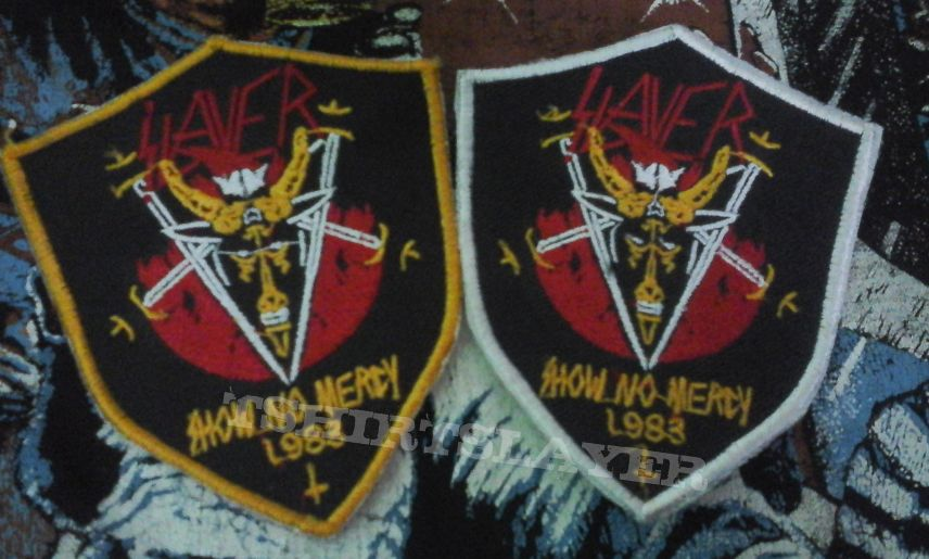 Slayer - Show No Mercy bootleg shield patch