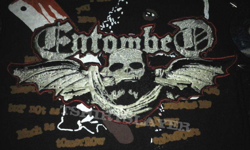 Entombed embroidery backshape (logo backpatch)
