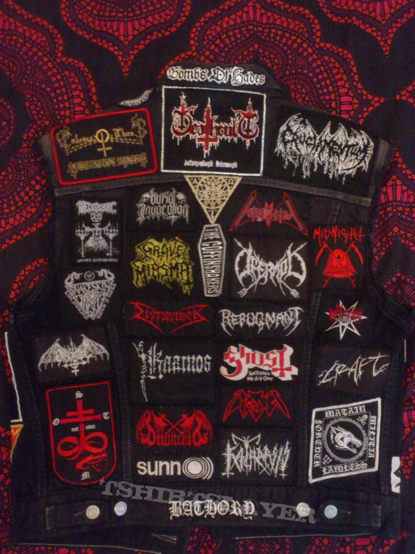Black Denim Battle Jacket #1
