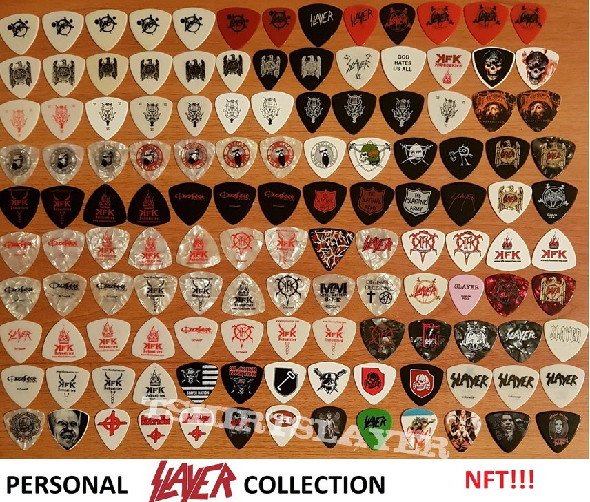 SLAYER guitar pick collection