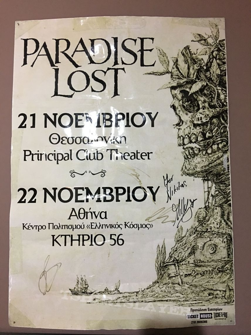 Paradise Lost-Promo Poster Athens Thessaloniki 2015