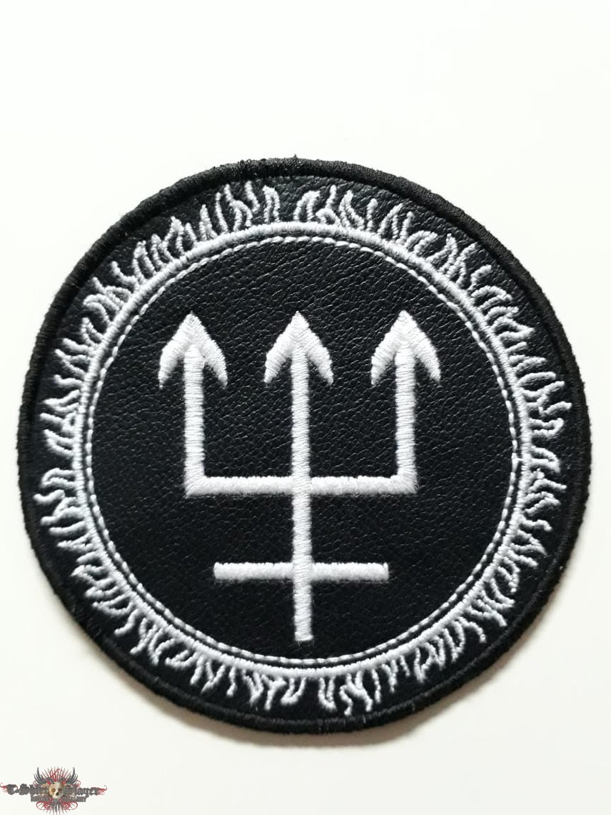 Watain - Trident LEATHER Patch