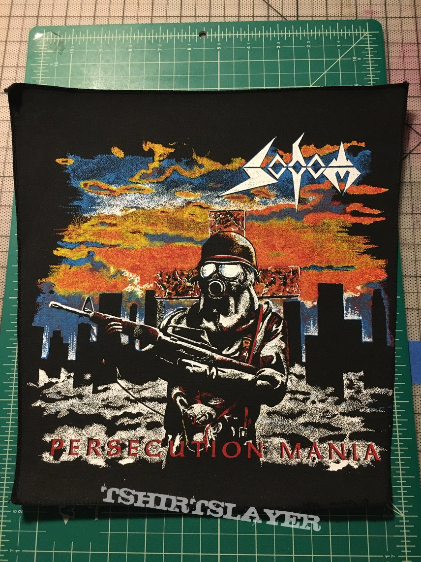 """Sodom """" Persecution Mania"""" Back Patch"""