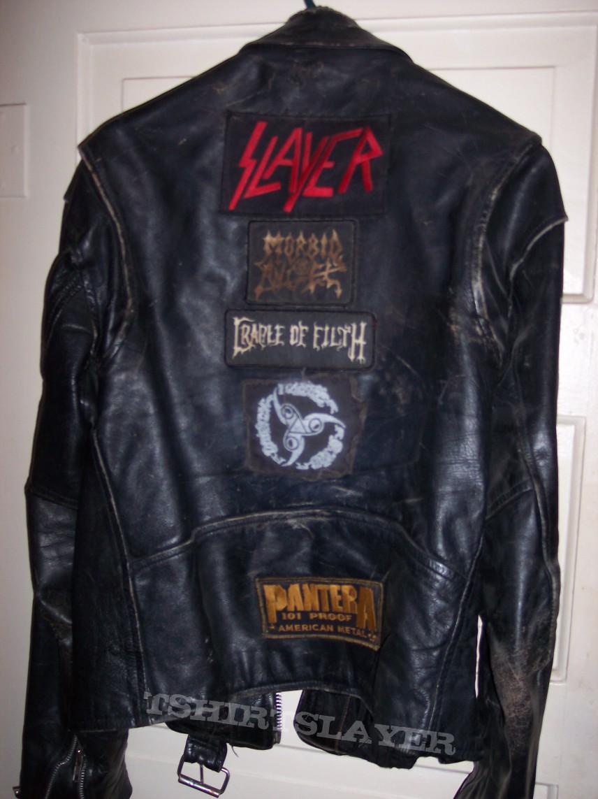 Slayer Leather Jacket With Spikes Tshirtslayer Tshirt