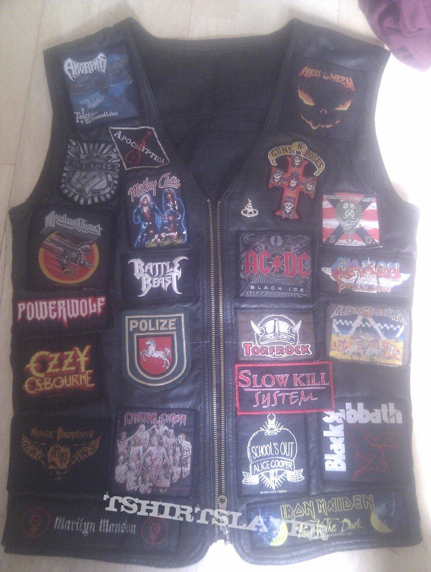 my battle jacket, leather, heavy, power, thrash, death, groove metal