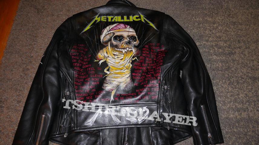 Metallica leather custom jacket