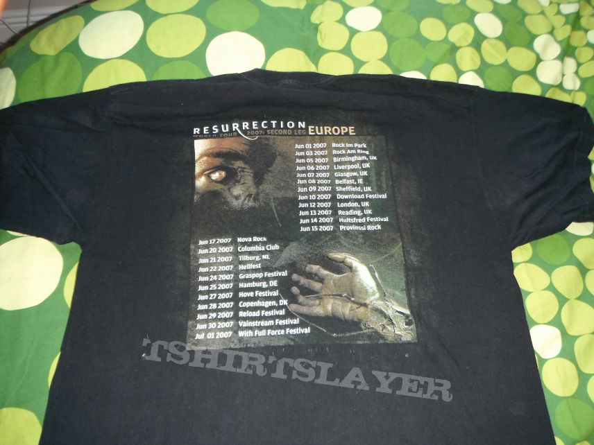 Chimaira Resurrection Tour T Shirt 2007 Size XL