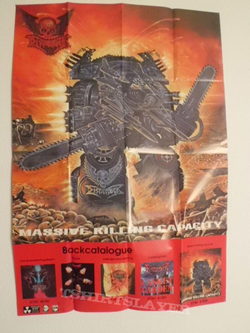 Dismember - Massive Killing Capacity ©️ 1995 Nuclear Blast Big Poster 83 x 120 cm