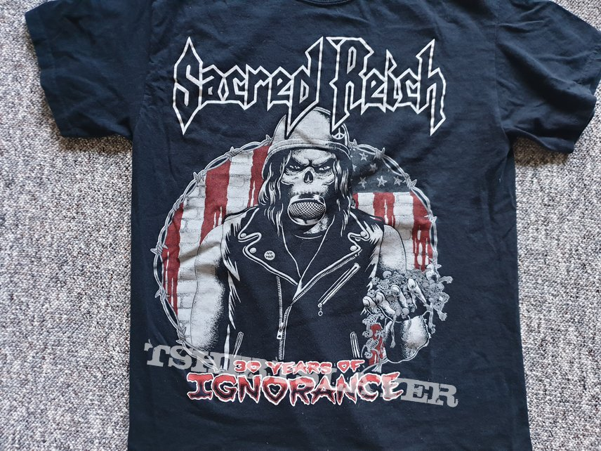 Sacred Reich 30 Years of Ignorance 2017 Tour Shirt for you