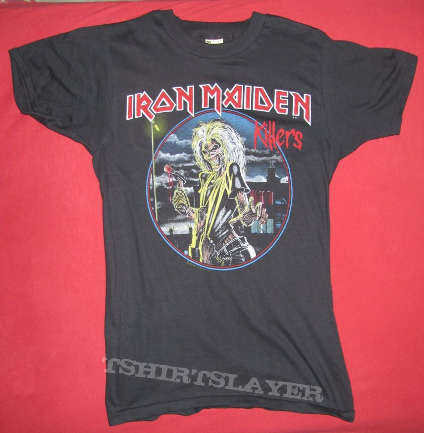 Iron maiden killers world tour 1981 t shirt tshirtslayer for Band t shirt designs for sale