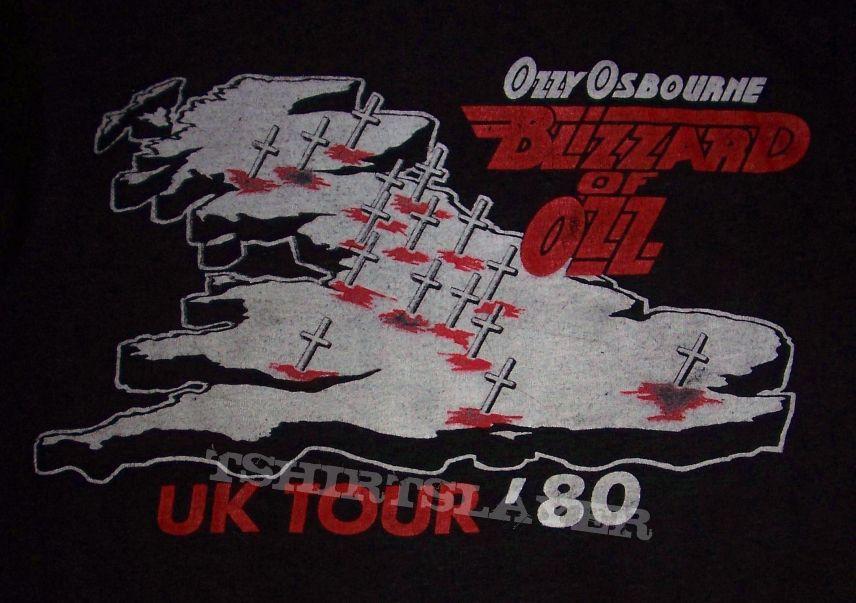 Ozzy Osbourne Blizzard Of Ozz  UK Tour '80 T-shirt