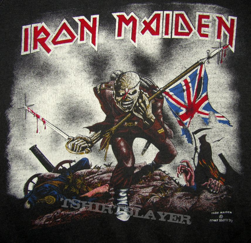 IRON MAIDEN The Trooper Sweat Shirt France Graffiti