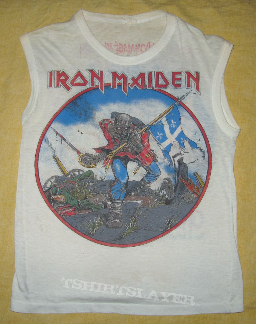 IRON MAIDEN  British Metal Onslaught 1983 Muscle-shirt Canada (F)