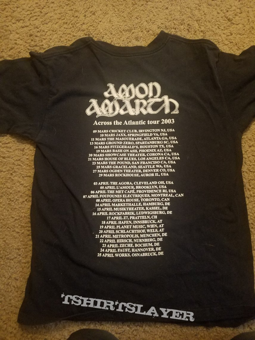 Amon Amarth 2003 tour shirt