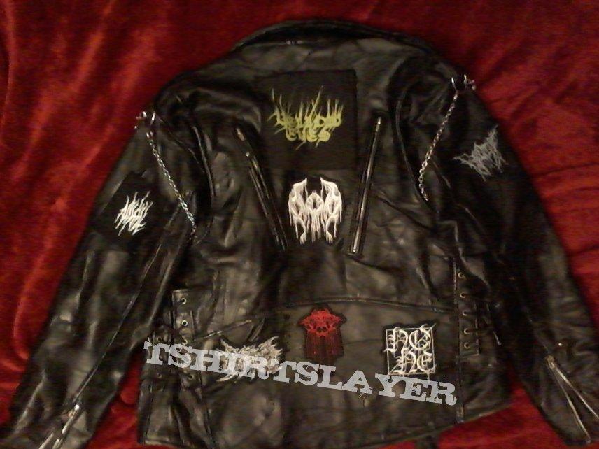 Leather Jacket w/Dark Ambient Black Metal Theme