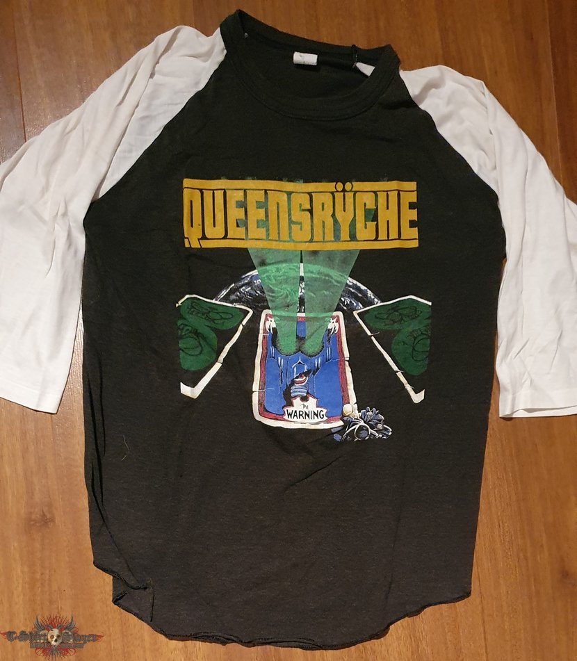 Queensryche - The Warning - official tourshirt (3/4 sleeve baseball style) for USA '85