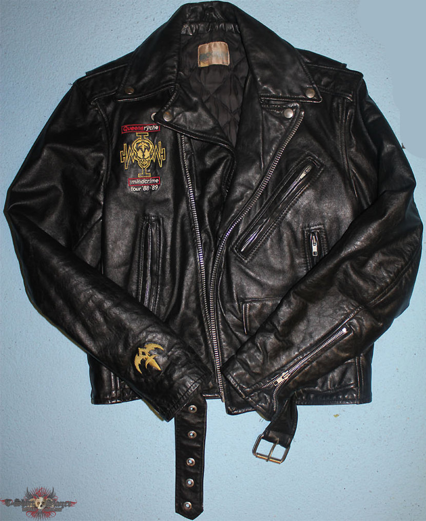 queensryche - operation mindcrime - promo leather jacket from the 1988-89 world tour, only about 10 do exist