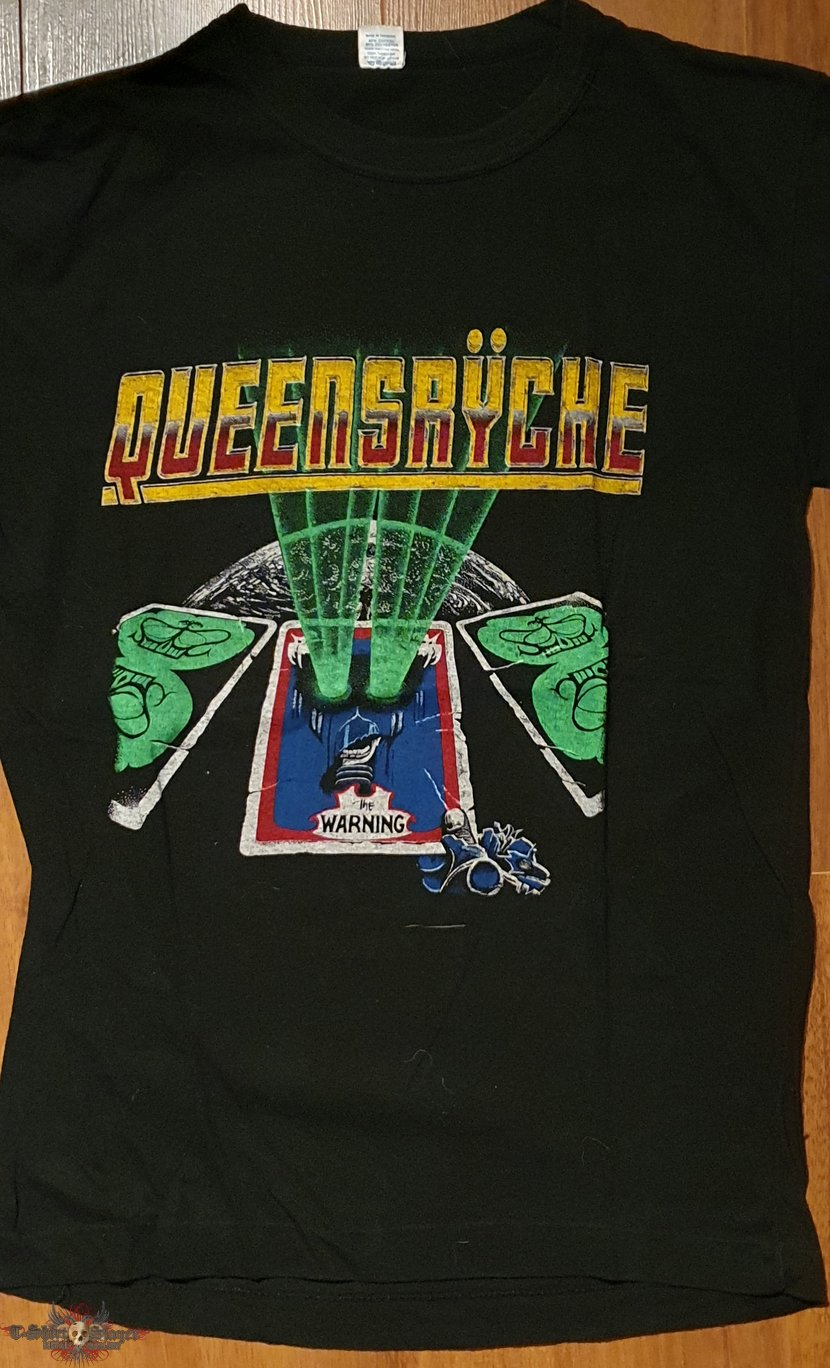 Queensryche - The Warning - official tourshirt for Europe/England 1984