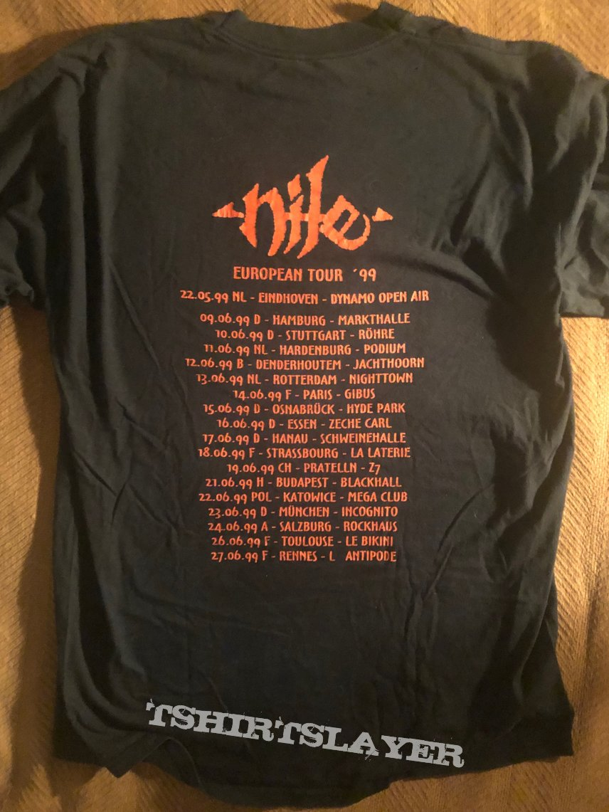 Nile Amongst the Catacombs of Nephren-Ka Orginal European Tour shirt 1999