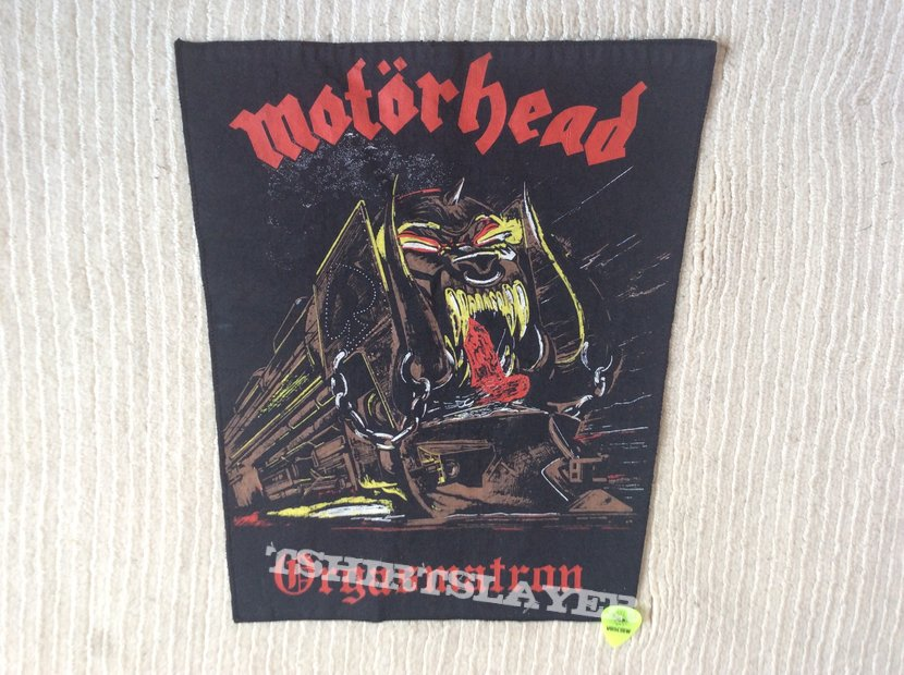 Motörhead - Orgasmatron - Vintage Backpatch