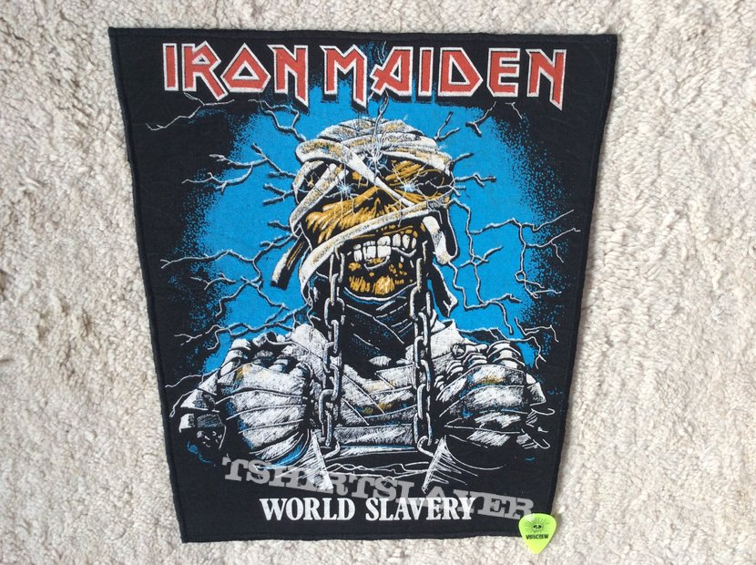 Iron Maiden - World Slavery - Vintage Back Patch