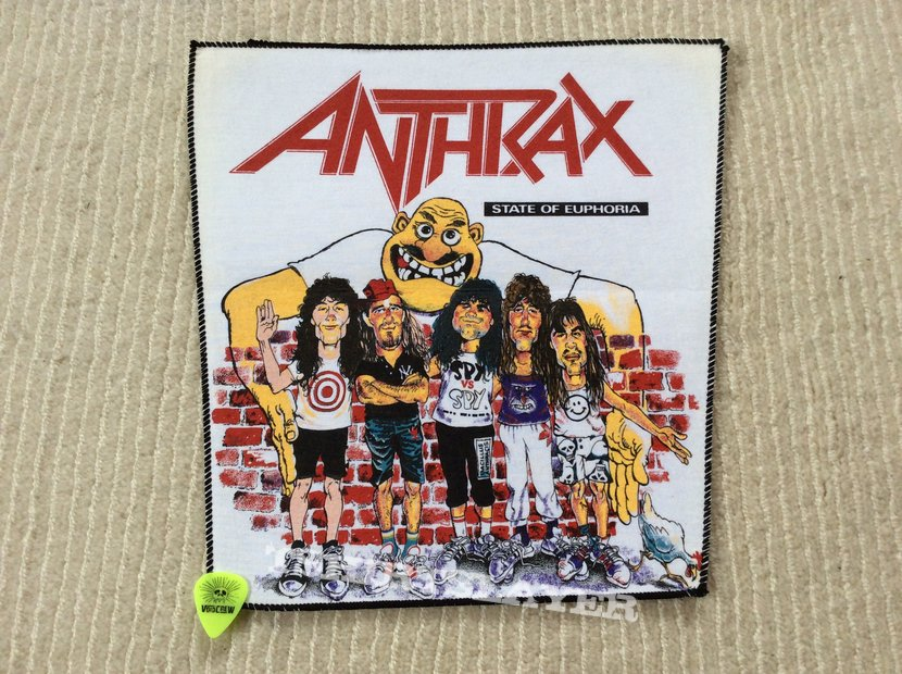 Anthrax - State of Euphoria - Vintage Back Patch - White Background
