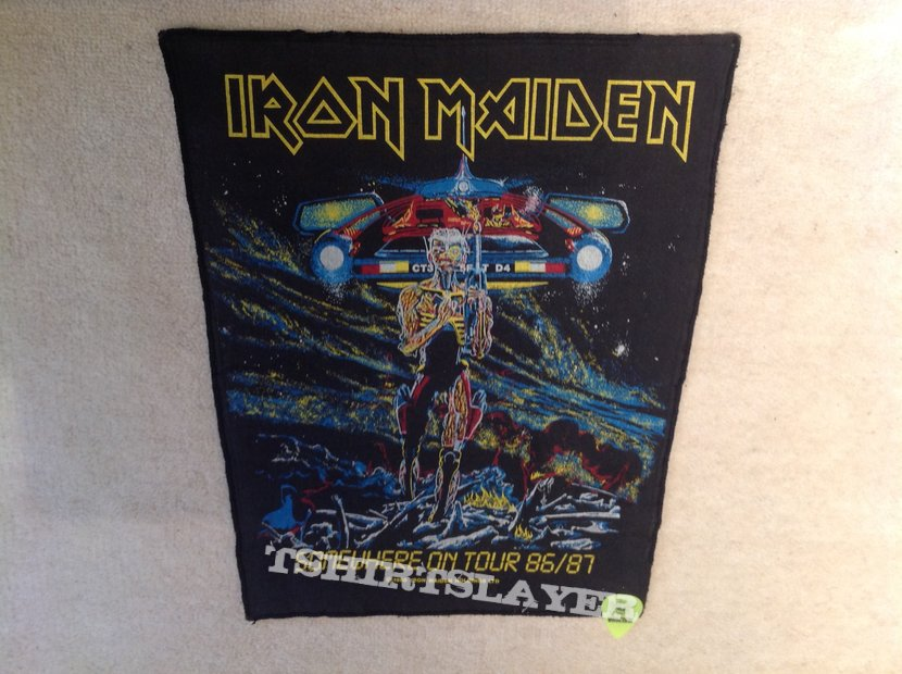 Iron Maiden - Somewhere On Tour 86/87 - 1986 Iron Maiden Holdings Ltd. - Backpatch - Version 2