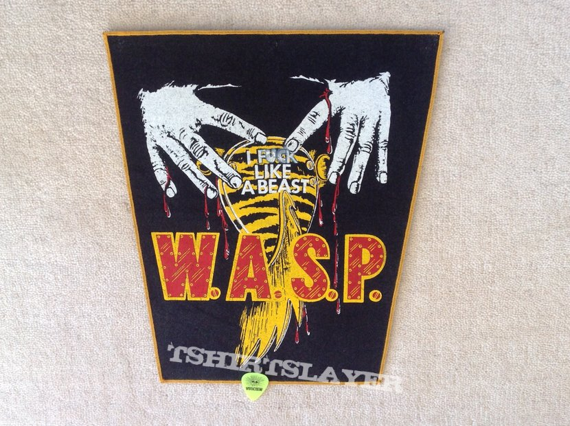 W.A.S.P. - F**k Like A Beast - Yellow Border  Backpatch
